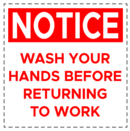 WASH HANDS SIGN,8X8