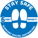 "STAY SAFE DECAL,12""DIAMET"