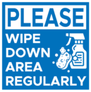 WIPE DOWN SIGN,8X8