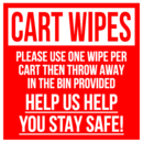 CART WIPES SIGN,8X8